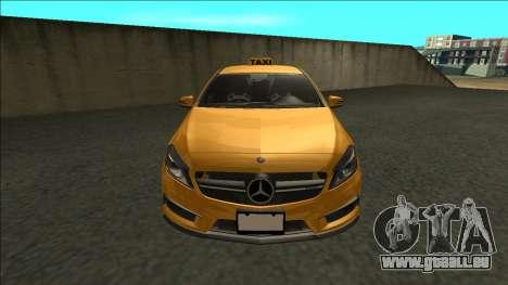 Mercedes-Benz A45 AMG Taxi 2012 für GTA San Andreas rechten Ansicht