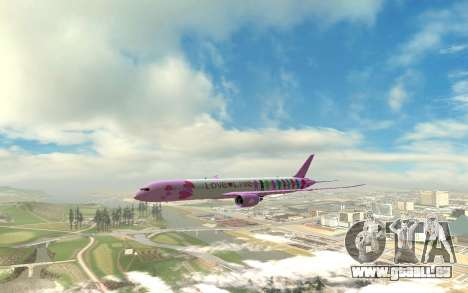 LoveLive Boeing 787-9 Livery pour GTA San Andreas