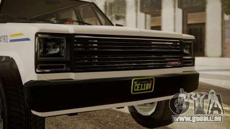 GTA 5 Declasse Rancher XL Police IVF pour GTA San Andreas vue de droite