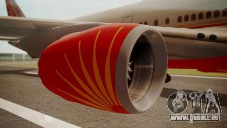 Boeing 747-8I Air India pour GTA San Andreas vue de droite