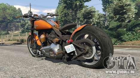 GTA 5 Harley-Davidson Fat Boy Lo Racing Bobber v1.2 arrière vue latérale gauche