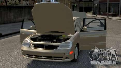 Daewoo Nubira II Sedan SX USA 2000 pour le moteur de GTA 4