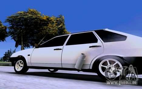 VAZ 2109 Turbo für GTA San Andreas zurück linke Ansicht