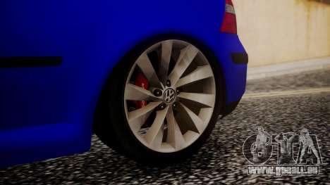 Volkswagen Golf 4 pour GTA San Andreas sur la vue arrière gauche