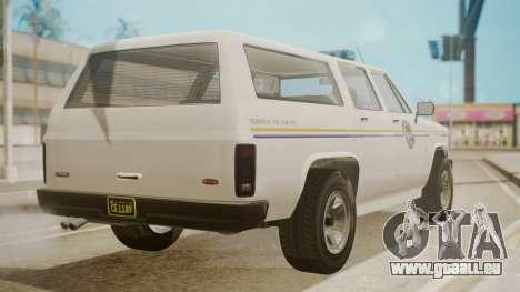 GTA 5 Declasse Rancher XL Police IVF pour GTA San Andreas laissé vue