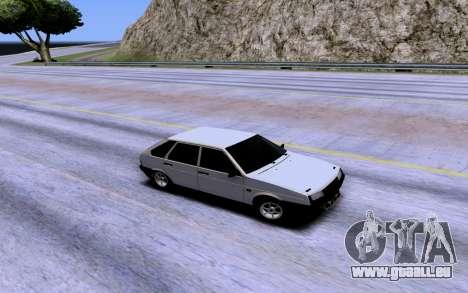 VAZ 2109 Turbo für GTA San Andreas obere Ansicht