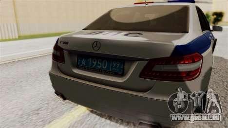 Mercedes-Benz E500 Innenministeriums Verkehrspol für GTA San Andreas Rückansicht