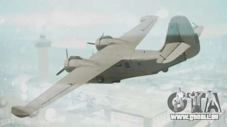 Grumman G-21 Goose Grey pour GTA San Andreas laissé vue