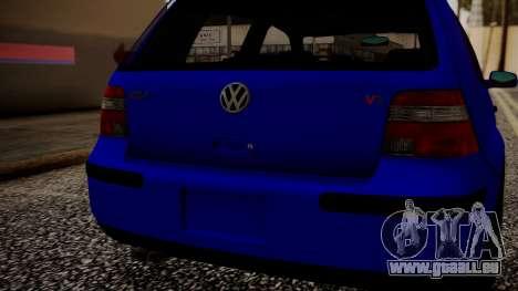 Volkswagen Golf 4 für GTA San Andreas Rückansicht