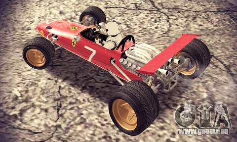 Ferrari 312 F1 pour GTA San Andreas sur la vue arrière gauche
