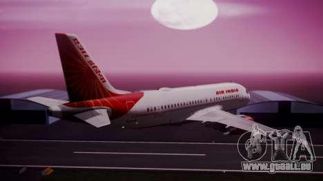 Airbus A319-100 Air India pour GTA San Andreas laissé vue