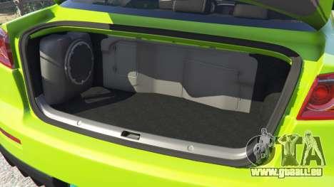GTA 5 Mitsubishi Lancer Evolution X FQ-400 avant droite vue de côté
