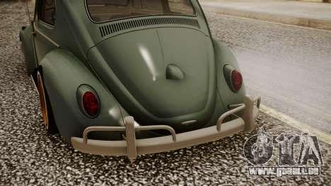 Volkswagen Beetle Aircooled pour GTA San Andreas vue arrière