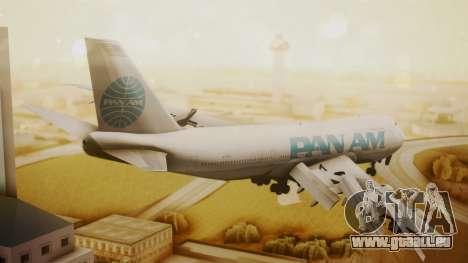Boeing 747-100 Pan Am Clipper Juan T. Trippe pour GTA San Andreas laissé vue