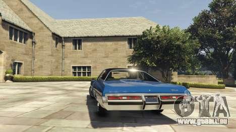 GTA 5 Chevrolet Impala 1972 hinten links Seitenansicht