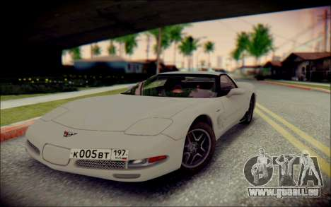Chevrolet Corvette C5 2003 für GTA San Andreas Rückansicht
