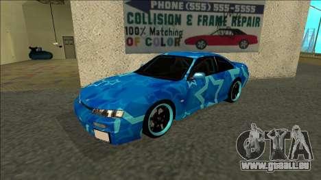 Nissan Silvia S14 Drift Blue Star für GTA San Andreas