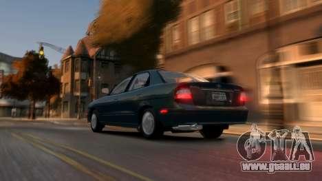 Daewoo Nubira II Sedan SX USA 2000 pour GTA 4 Vue arrière de la gauche