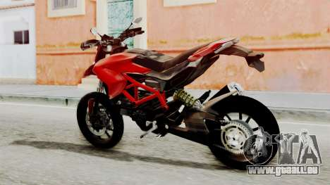 Ducati Hypermotard für GTA San Andreas linke Ansicht