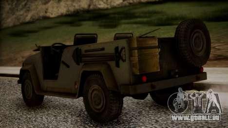 UAZ MGS5 TPP für GTA San Andreas linke Ansicht