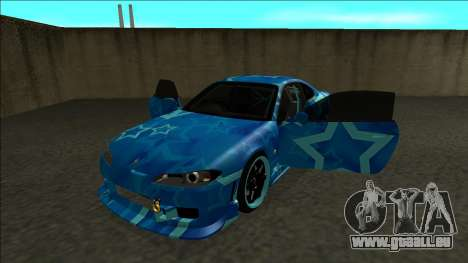 Nissan Silvia S15 Drift Blue Star für GTA San Andreas Rückansicht