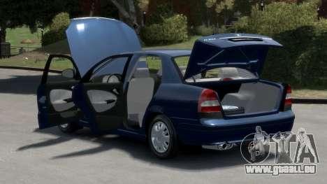 Daewoo Nubira II Sedan S PL 2000 pour GTA 4 est une vue de l'intérieur