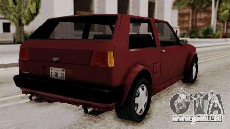 Updated Club Beta v1 pour GTA San Andreas laissé vue
