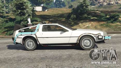 GTA 5 DeLorean DMC-12 Back To The Future v0.5 vue latérale gauche