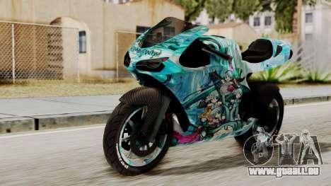 Bati Motorcycle Hatsune Miku Itasha pour GTA San Andreas