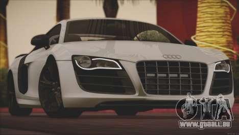Audi R8 GT 2012 Sport Tuning V 1.0 für GTA San Andreas Unteransicht