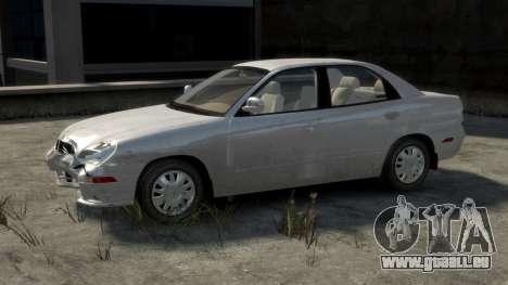 Daewoo Nubira II Sedan SX USA 2000 pour GTA 4 Salon