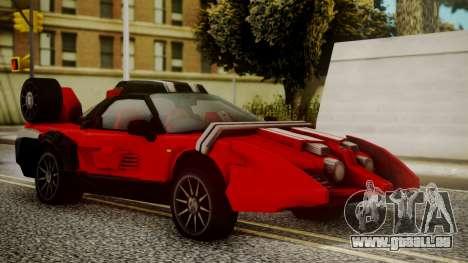 Tridoron-3000 für GTA San Andreas zurück linke Ansicht