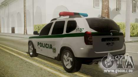 Renault Duster Patrulla Policia Colombiana für GTA San Andreas linke Ansicht