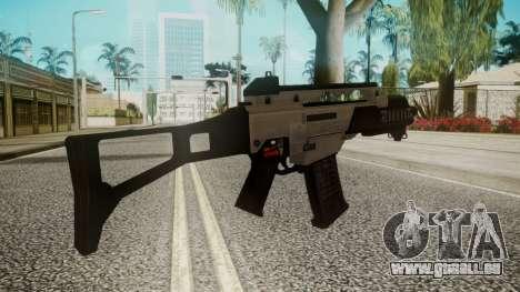 G36C Silver pour GTA San Andreas deuxième écran