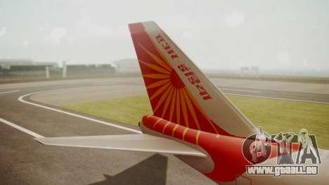 Boeing 747-8I Air India pour GTA San Andreas sur la vue arrière gauche