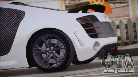 Audi R8 GT 2012 Sport Tuning V 1.0 pour GTA San Andreas laissé vue