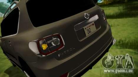 Nissan Patrol IMPUL 2014 pour GTA San Andreas vue de dessous