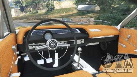 GTA 5 Chevrolet Impala SS 1964 arrière droit vue de côté