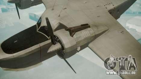 Grumman G-21 Goose Grey pour GTA San Andreas vue de droite