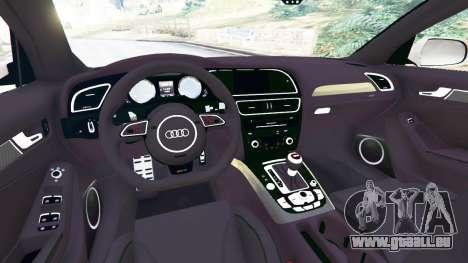 GTA 5 Audi RS4 Avant 2014 arrière droit vue de côté