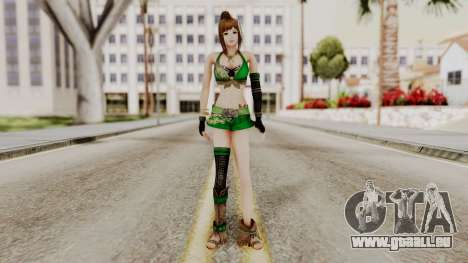Dynasty Warriors 8 - Bao Sannian Green Costume für GTA San Andreas zweiten Screenshot