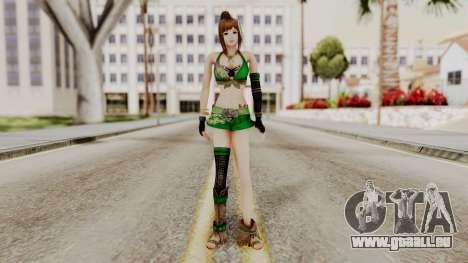 Dynasty Warriors 8 - Bao Sannian Green Costume pour GTA San Andreas deuxième écran