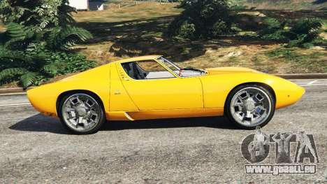 GTA 5 Lamborghini Miura P400 1967 vue latérale gauche