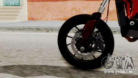 Ducati Hypermotard pour GTA San Andreas sur la vue arrière gauche