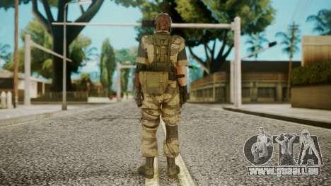 Venom Snake Tiger Stripe pour GTA San Andreas troisième écran