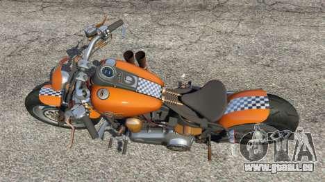 GTA 5 Harley-Davidson Fat Boy Lo Racing Bobber v1.2 vue arrière