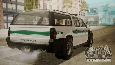 GTA 5 Declasse Granger Park Ranger IVF für GTA San Andreas linke Ansicht