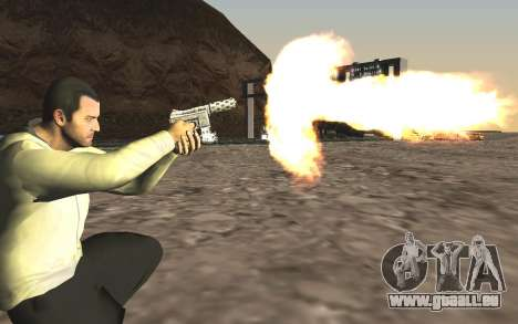 GTA 5 Tec-9 für GTA San Andreas fünften Screenshot