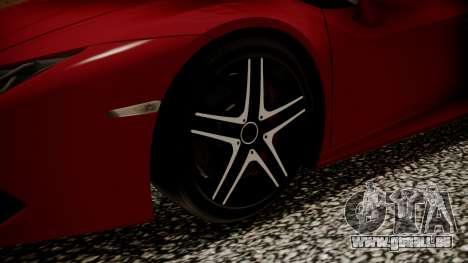 Lamborghini Huracan LP-610 VELLANO für GTA San Andreas zurück linke Ansicht