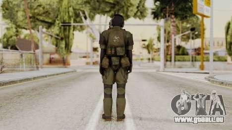 MGSV Ground Zero MSF Soldier für GTA San Andreas dritten Screenshot